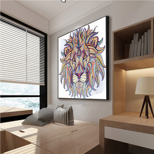 Artistic Lion DIY Painting for Adults