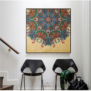 Special Colorful Flower Embroidery Style Diamond Painting