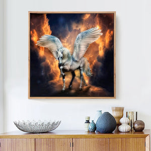 White Huge Pegasus Diamond Painting