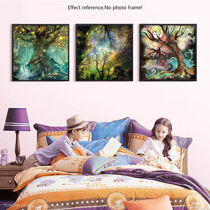 Beautiful Magic Tree Painting with Diamond Kits