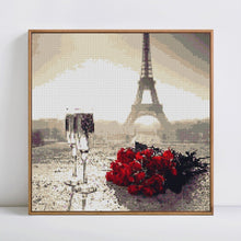Load image into Gallery viewer, Romantic Red Roses & Glass at Eiffel Tower