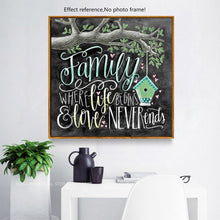 Load image into Gallery viewer, Family Life Love Beautiful Text Painting for your Wall