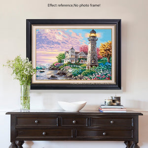 Beautiful Colorful Lighthouse Diamond Painting