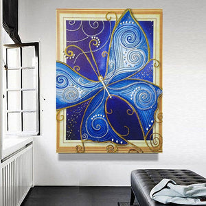 Big Blue Butterfly Diamond Painting Kit