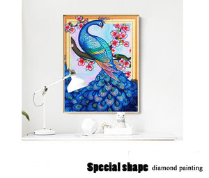 Charming Peacock Special Diamond Art