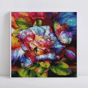 Colorful Butterflies on the Rose Diamond Painting