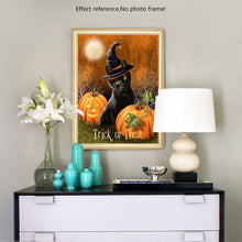 Load image into Gallery viewer, Black Cat & Pumpkin