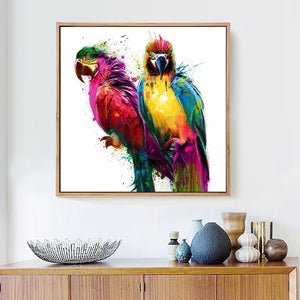 Attractive African Parrots Diamond Painting