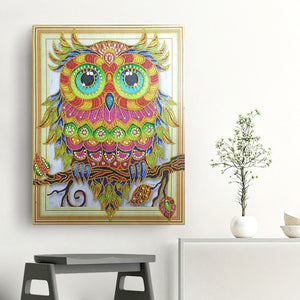 Special Serious Owl Diamond Art Kit