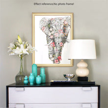 Load image into Gallery viewer, Floral Elephant Diamond Painting