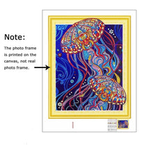 Load image into Gallery viewer, Colorful Jelly Fish Diamond Painting Kit