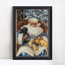 Load image into Gallery viewer, Santa with Cute Puppies Diamond Painting
