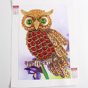 Colorful Special Shaped Owl Diamond Painting Kit