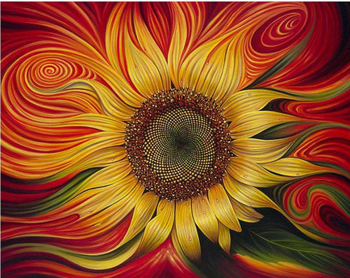 Awesome Artistic Sunflower Painting