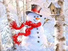 Load image into Gallery viewer, Delighted Snowman Diamond Painting Collections
