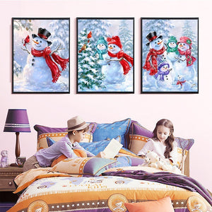 Delighted Snowman Diamond Painting Collections