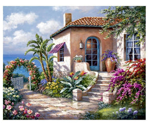 Graceful House Covered in Flowers
