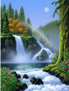 Amazing Waterfall and Rainbow