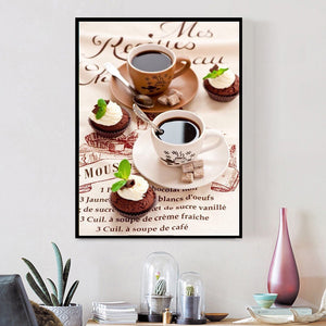 Beautiful Coffee Diamonds Painting for your Wall