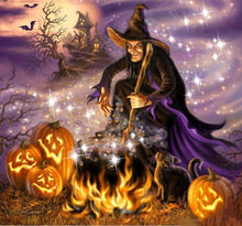 Load image into Gallery viewer, Halloween diamond painting