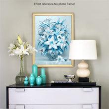 Load image into Gallery viewer, Graceful White & Blue Flowers Painting Kit
