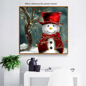 Big Snowman in Snow Fall