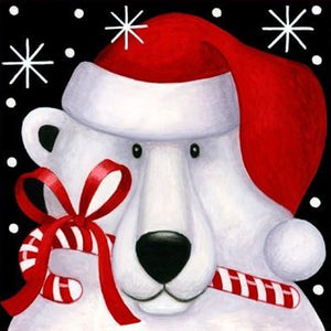 Christmas Gift Card Paintings with Round Diamonds