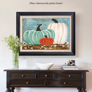 Acrylic Pumpkins Painting with Diamonds