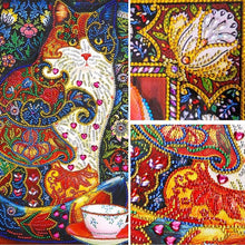 Load image into Gallery viewer, Colorful Puzzle Cat Diamond Painting Kit for Adults