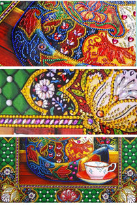 Colorful Puzzle Cat Diamond Painting Kit for Adults