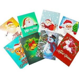 Beautiful Different Christmas Greeting Cards Diamond Painting