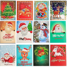 Load image into Gallery viewer, Beautiful Different Christmas Greeting Cards Diamond Painting
