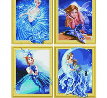 Load image into Gallery viewer, Beautiful Cartoon Fairy Paintings with Rhinestones aka Diamonds