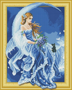 Beautiful Cartoon Fairy Paintings with Rhinestones aka Diamonds