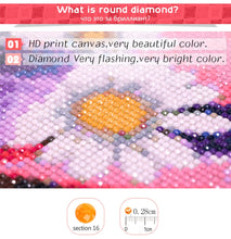 Load image into Gallery viewer, Pigeon and Flowers - Diamond Art Kit