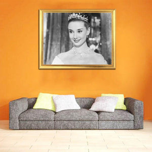 Audrey Hepburn Portrait in Crown