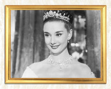 Load image into Gallery viewer, Audrey Hepburn Portrait in Crown
