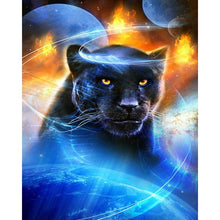 Load image into Gallery viewer, Black Panther DIY Diamond Painting Kit