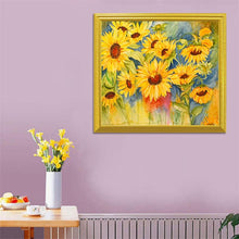 Load image into Gallery viewer, Sunflowers Diamond Painting Kit