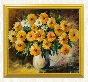 Amazing Yellow & White Flowers - Paint by Diamonds