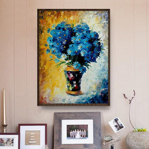 Blue Flowers Diamond Painting