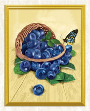 Load image into Gallery viewer, Blueberries & Butterfly - Paint by Diamonds