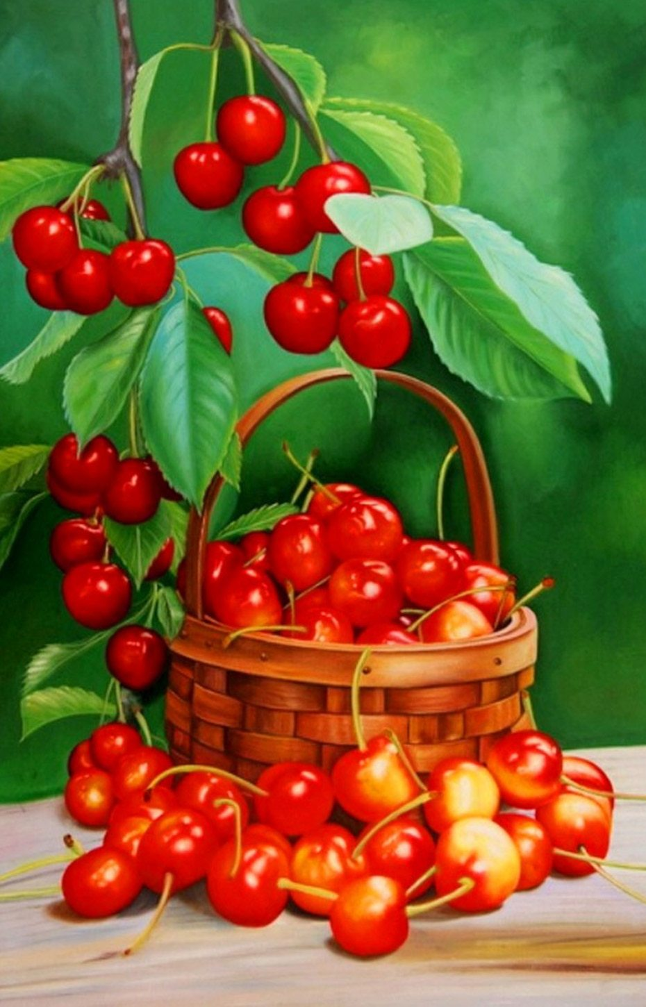 basket of cherries Painting Kit