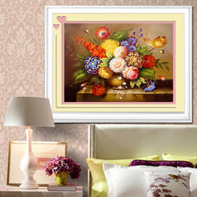 Load image into Gallery viewer, Flowers Vase Diamond Art Kit