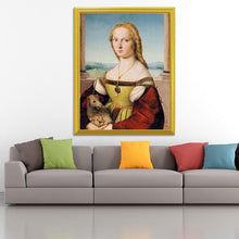 Load image into Gallery viewer, Lady with Unicorn Painting by Raphael