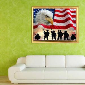 American Flag & Eagle Painting Kit