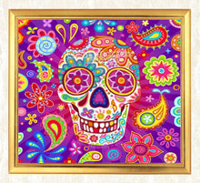 Load image into Gallery viewer, Abstract Skull Diamond Art Kit