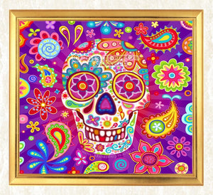 Abstract Skull Diamond Art Kit