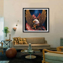 Load image into Gallery viewer, Eagle with Flag Diamond Art Kit