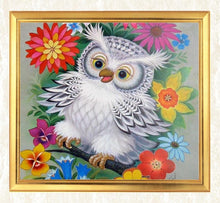 Load image into Gallery viewer, Happy Owl Sitting in Flowers